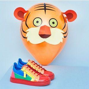 🌈 giuseppe zanotti NIB multicolor glossy sneakers